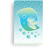 Blue Bird of Happiness Family Canvas Print