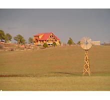 Prairie Windmill Photographic Print