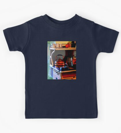 Copper Tea Kettle on Stove Kids Tee