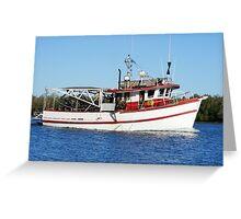 Barra Boat Greeting Card