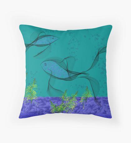 Fractal Fishtank Throw Pillow