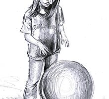 girl with ball by lydiajane