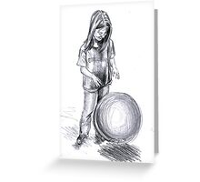 girl with ball Greeting Card