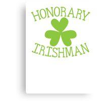 Honorary Irishman with green shamrock Canvas Print