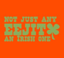 NOT JUST any EEJIT (idiot) an IRISH one! with green shamrock Kids Tee