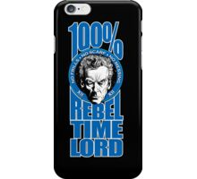 100% Rebel Timelord iPhone Case/Skin