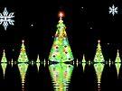 Christmas Tree Heaven on Snowy Lake by barrowda
