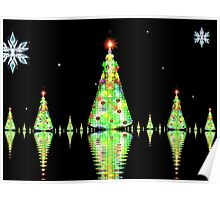 Christmas Tree Heaven on Snowy Lake Poster