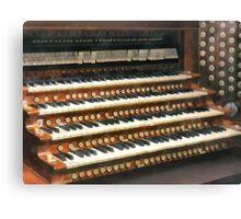 Organ Keyboard Canvas Print