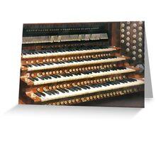 Organ Keyboard Greeting Card