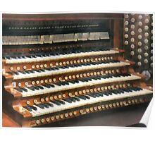 Organ Keyboard Poster