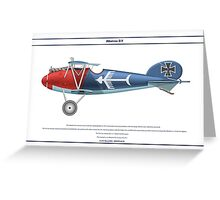 Albatros D.V Jasta 18 - 3 Greeting Card