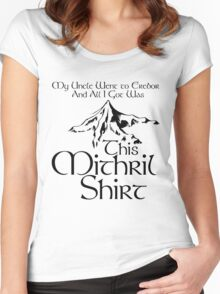 My Uncle Went to Erebor And All I Got Was This Mithril Shirt Women's Fitted Scoop T-Shirt