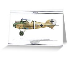 Albatros D.V Jasta 21 - 1 Greeting Card