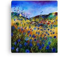 The glory of summer in Belgium Canvas Print