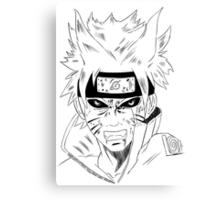 Naruto's Inner Demon  Canvas Print