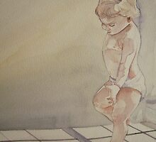i(I love light from my window)water colour on maruman watercolour paper)wet on wet technic by Suryani Shinta