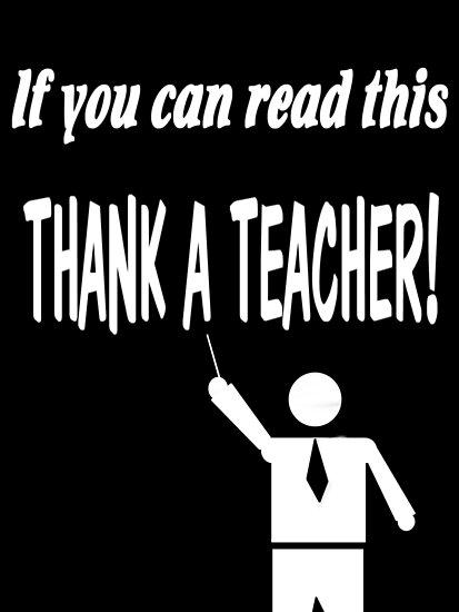 Thank a teacher by Jayson Gaskell