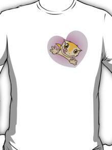 """I Love My Crestie"" Cute Crested Gecko Heart T-Shirt"