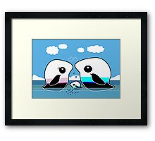 Paradise Penguin Family Framed Print