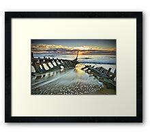 Wreck Sunrise  Framed Print