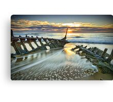 Wreck Sunrise  Canvas Print