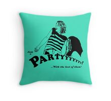 Ready to Party Throw Pillow