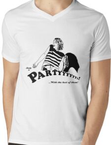 Ready to Party Mens V-Neck T-Shirt