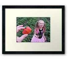 Silly Strawberry! Framed Print