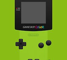 Green Nintendo Gameboy Color by Jen *