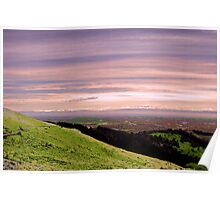 Layered Landscape Poster