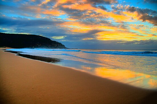 Reflections of Day - Palm Beach - Sydney Beaches - The HDR Series by Philip Johnson