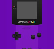 Purple Nintendo Gameboy Color by Jen *