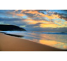 Reflections of Day To Come - Palm Beach - Sydney Beaches - The HDR Series Photographic Print