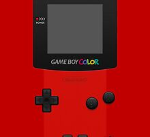 Red Nintendo Gameboy Color by Jen *