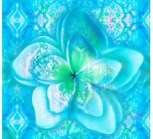 aqua frangipani glow seascape Photographic Print