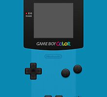Blue Nintendo Gameboy Color by Jen *