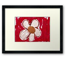 Note Flower Framed Print