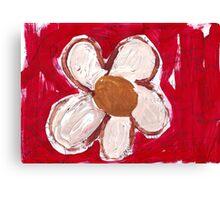 Note Flower Canvas Print
