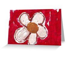 Note Flower Greeting Card