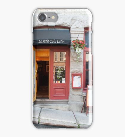Old Quebec: Early Morning Café iPhone Case/Skin