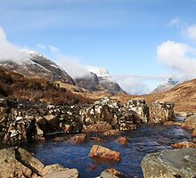 Fine winter's day in Glencoe. by John Cameron