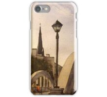 Cyclist at Queens Square iPhone Case/Skin