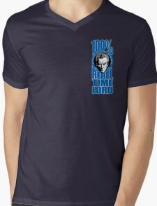 100% Rebel Timelord Mens V-Neck T-Shirt