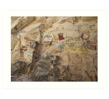 Signature Rock Art Print