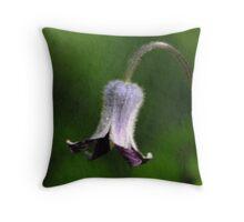 Sugarbowl Wildflower - Clematis Hirsutissima Throw Pillow