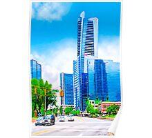 Towering Over The Buckhead Skyline - Atlanta Poster