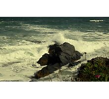 Crashing Into The Rocky Shore Photographic Print
