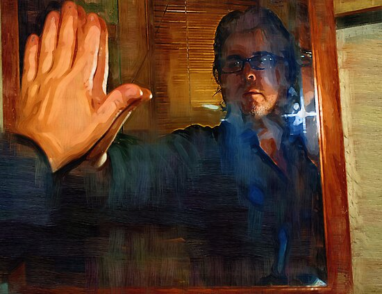 Man In The Mirror - Self Portrait by Barry W  King