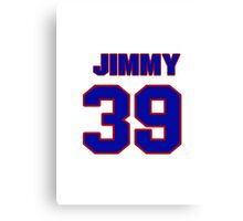 National Hockey player Jimmy Hayes jersey 39 Canvas Print